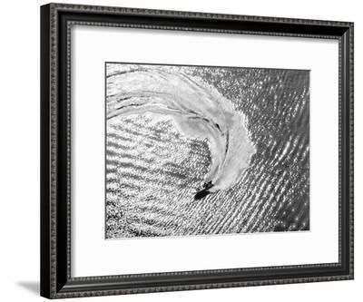 Aerial of Waterskier. Long Beach, California 1951-Margaret Bourke-White-Framed Premium Photographic Print