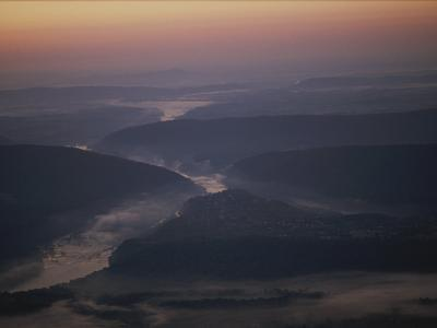 Aerial over Maryland, Virginia and West Virginia at Harpers Ferry-Kenneth Garrett-Photographic Print