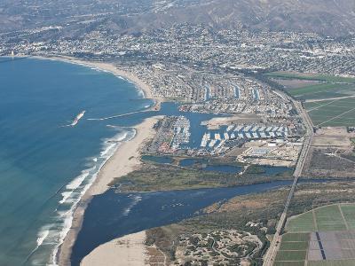 Aerial Photo of Ventura Marina, Ventura, California, United States of America, North America-Antonio Busiello-Photographic Print