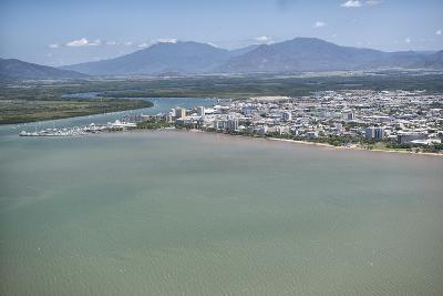 Aerial Photograph of the City and the Mouth of Trinity Inlet-Louise Murray-Photographic Print