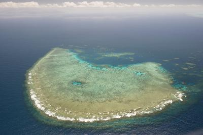 Aerial Photography of Coral Reef Formations of the Great Barrier Reef-Louise Murray-Photographic Print