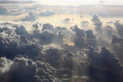 Aerial Shot, Clouds, Indian Ocean-Catharina Lux-Photographic Print