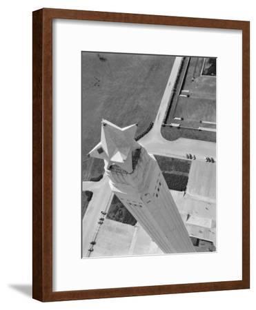 Aerial Shot of San Jacinto Monument. 1952 Houston, Texas-Margaret Bourke-White-Framed Premium Photographic Print