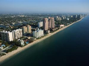 Aerial View Along Coast of Fort Lauderdale, Florida