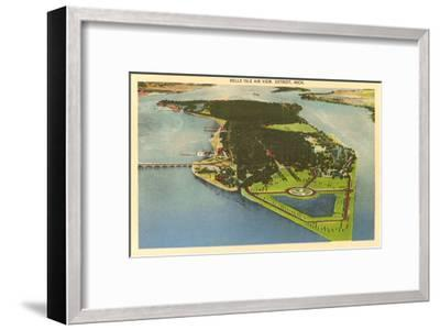 Aerial View, Belle Isle, Detroit, Michigan--Framed Art Print