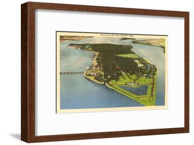 Aerial View, Belle Isle, Detroit, Michigan--Framed Art Print