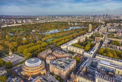 Aerial View from Helicopter,Royal Albert Hall and Hyde Park, London, England-Jon Arnold-Photographic Print