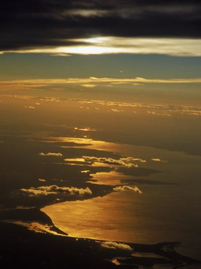 Aerial View, Long Island Sound, NY-Bruce Clarke-Photographic Print
