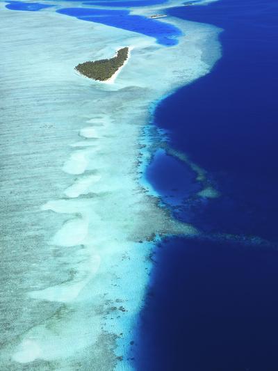 Aerial View, Maldives, Indian Ocean, Asia-Sakis Papadopoulos-Photographic Print