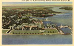 Aerial View, Naval Academy, Annapolis, Maryland