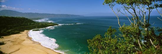 Aerial View of a Beach, North Shore, Oahu, Hawaii, USA--Photographic Print