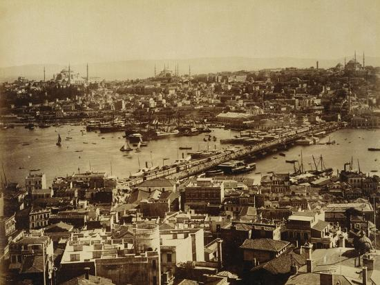 Aerial View of a Bridge over the Bosporus in Istanbul--Photographic Print