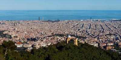 Aerial View of a City, Barcelona, Catalonia, Spain--Photographic Print