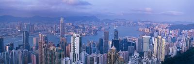 Aerial View of a City, Hong Kong, China--Photographic Print