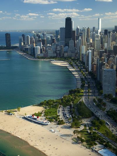 Aerial View of a City, Lake Michigan, Chicago, Cook County, Illinois, USA 2010--Photographic Print