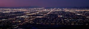 Aerial View of a City Lit Up at Night, Phoenix, Maricopa County, Arizona, Usa