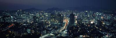 Aerial View of a City, Seoul, South Korea 2011--Photographic Print
