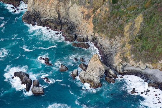 Aerial View of a Coast, Big Sur, Monterey County, California, USA--Photographic Print