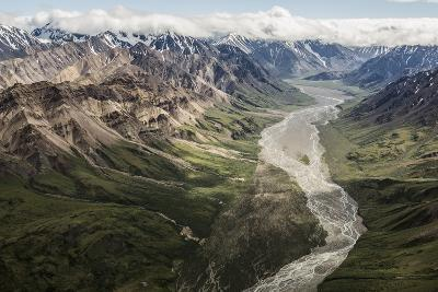 Aerial View of a Flowing River in Denali National Park and Preserve-Aaron Huey-Photographic Print