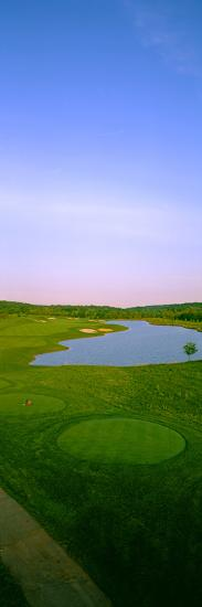 Aerial View of a Golf Course, Caves Valley Golf Club, Owings Mills, Baltimore County, Maryland, USA--Photographic Print