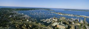 Aerial View of a Harbor, Newport Harbor, Newport, Rhode Island, USA