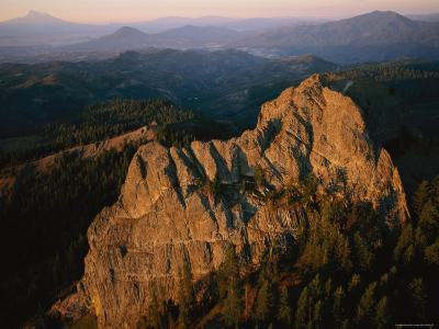 Aerial View of a Mountainside at Twilight-Melissa Farlow-Photographic Print