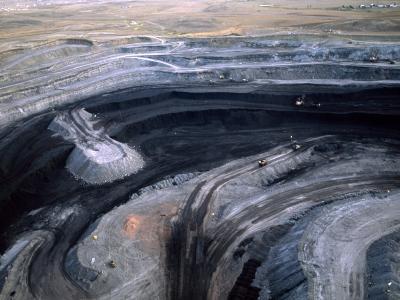Aerial View of a Non Lignite Coal Strip Mine-Joel Sartore-Photographic Print