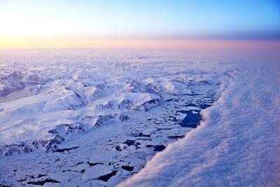 Aerial View of a Snow Covered Barren Landscape in Russia--Photographic Print