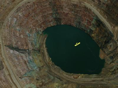 Aerial View of an Ultralight Plane Flying over a Mine-Joel Sartore-Photographic Print