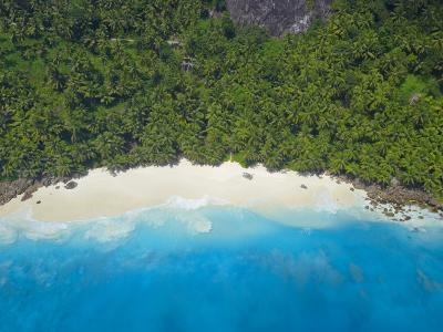 Aerial View of Anse Victorin Beach, Fregate Island, Seychelles, Indian Ocean, Africa-Papadopoulos Sakis-Photographic Print
