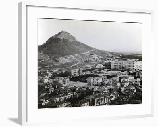 Aerial View of Athens, C.1970--Framed Photographic Print