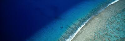 Aerial View of Beach, Teti'aroa Island, Polynesia--Photographic Print