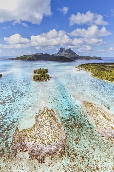 Aerial View of Bora Bora Island, French Polynesia-Matteo Colombo-Photographic Print