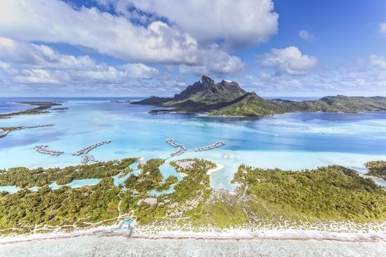 Aerial View Of Bora Bora Island With St Regis And Four Seasons Resorts French Polynesia Photographic Print By Matteo Colombo Art Com