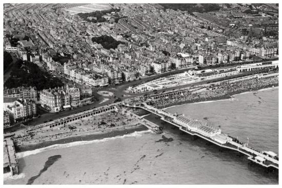 Aerial View of Brighton, Sussex, from a Zeppelin, 1931--Giclee Print