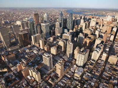 Aerial View of Buildings in Philadelphia, Pennsylvania--Photographic Print