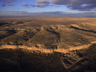 Aerial View of Chaco Canyon and Ruins of Ancient Pueblo Dwellings-Ira Block-Photographic Print