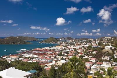 Aerial View of Charlotte Amalie St Thomas USVI-George Oze-Photographic Print