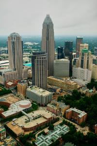 Aerial view of Charlotte, NC