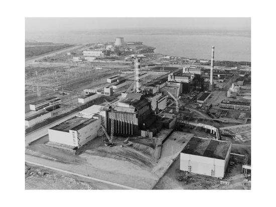 Aerial View of Chernobyl And Its Sarcophagus  Giclee Print by Ria Novosti |  Art com