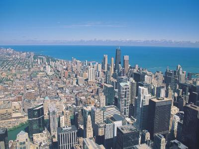 Aerial View of Chicago, Illinois-Jim Schwabel-Photographic Print