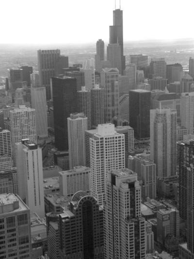 Aerial View of Chicago-Keith Levit-Photographic Print