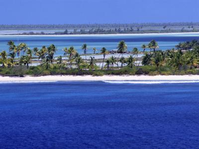 Aerial View of Christmas Island, Kiribati-Ken Gillham-Photographic Print