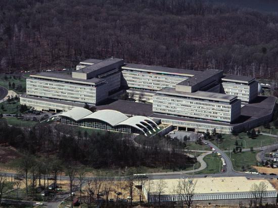 Aerial View of CIA Building--Photographic Print