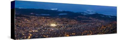 Aerial View of City at Night, El Alto, La Paz, Bolivia