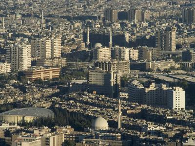 Aerial View of City, Damascus, Syria, Middle East-Christian Kober-Photographic Print