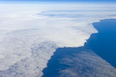 Aerial View of Clouds above Pacific Ocean near Chile-Momatiuk - Eastcott-Photographic Print