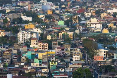 Aerial View of Colorful Houses, Manila, Philippines-Keren Su-Photographic Print