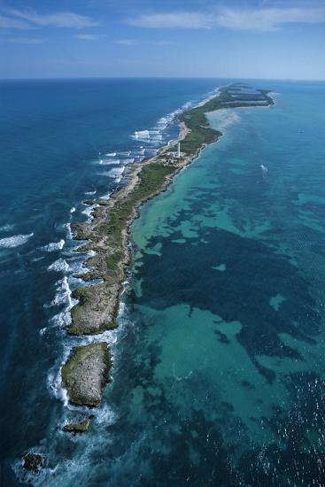 Aerial View of Contoy Island from the North-Claudio Contreras-Photographic Print
