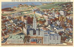 Aerial View of Downtown Cleveland, Ohio